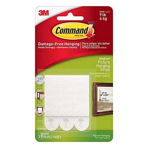 command strip bathroom 3m command 3 pack medium picture hanging strips bed bath beyond