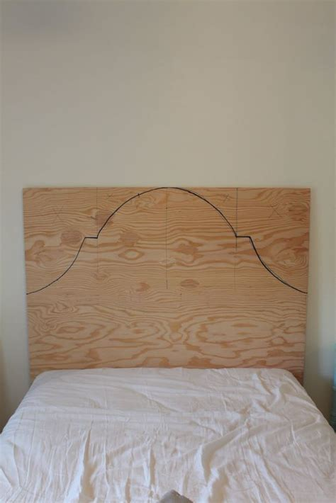 plywood headboard diy diy headboard for 46 yes and i can probably add the nail trim that i really like need to