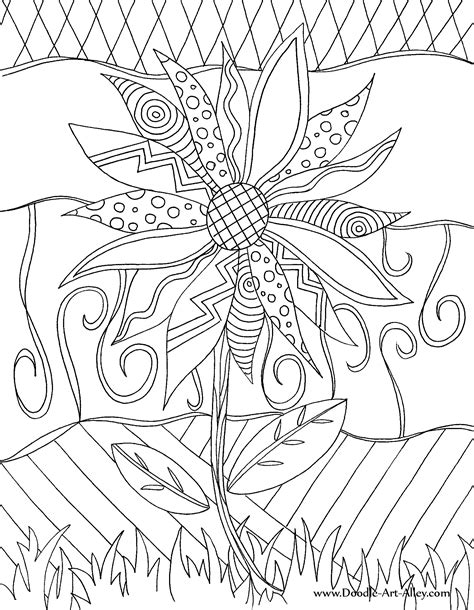 Doodle Pages True Self Free Doodle Coloring Pages