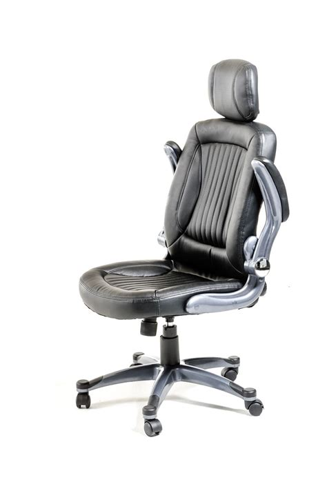 Headrest For Office Chair by Modrest Principal Modern Black Office Chair W Headrest