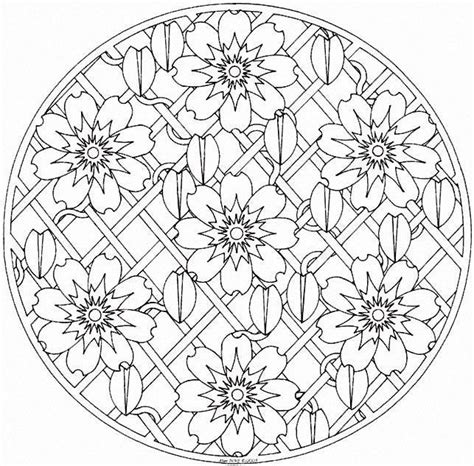 intermediate mandala coloring pages 125 best images about mandalas on