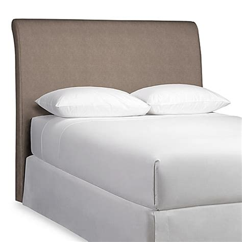 headboard slipcovers queen rollback top headboard with slipcover bed bath beyond