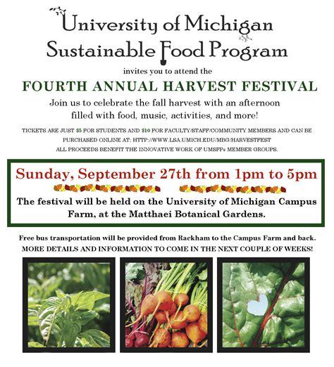 Calendar 2018 Umich Umsfp 4th Annual Harvest Festival At The Cus Farm Sept
