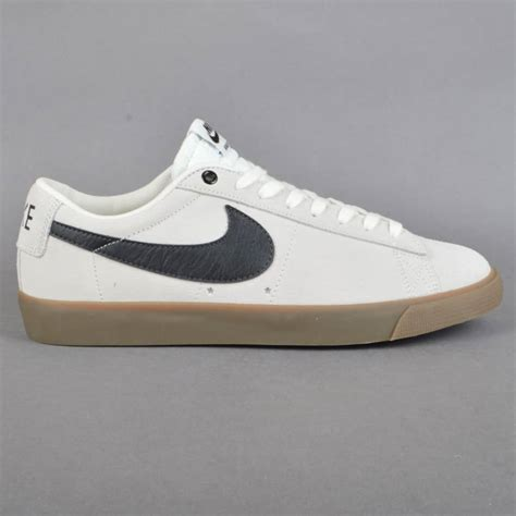 Nike Sb Low Mens Brown nike sb blazer low gt skate shoes ivory black gum light
