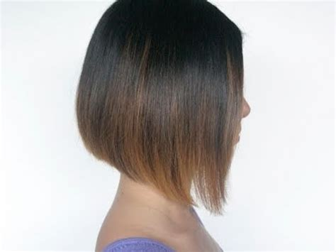 how to cut own a line hairstyles how to cut an a line bob hairstyle on your self at home
