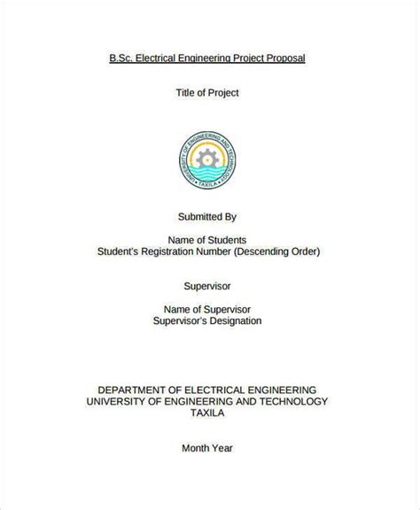 Engineering Project Template Word Engineering Templates 8 Free Documents In Word Pdf