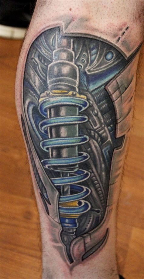 cyborg tattoos cyborg leg done by ambrose at arrows and