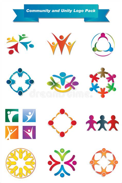 Community Unity Logo Pack Stock Vector Illustration Of Clip Icon 25092061 Unity Logo Communication Logo