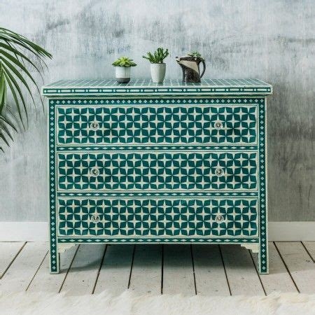 blue patterned chest of drawers 24 best images about bone inlay furniture on pinterest