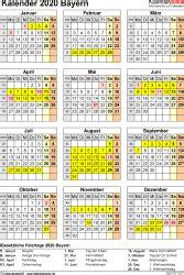 kalender  bayern zum ausdrucken kostenlos