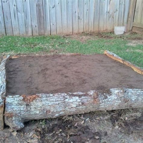 log beds cheap easy raised flower bed for the home pinterest raised flower beds flower beds