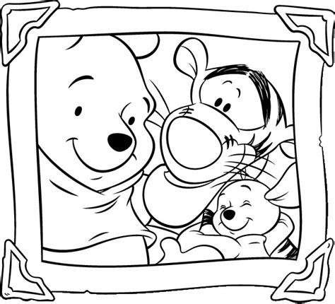 winnie the pooh coloring pages free printable pictures