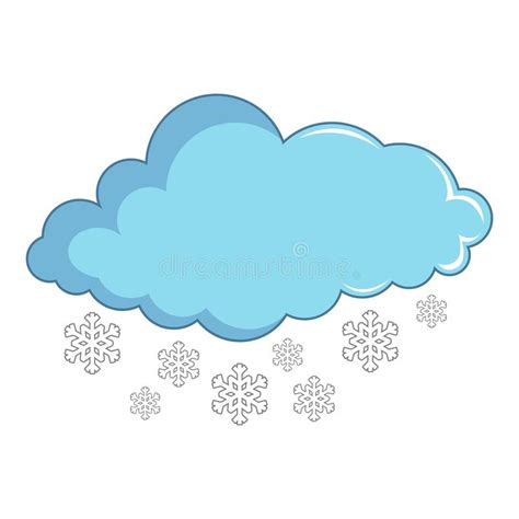 clipart neve nuvem flocos de neve 237 cone estilo dos desenhos