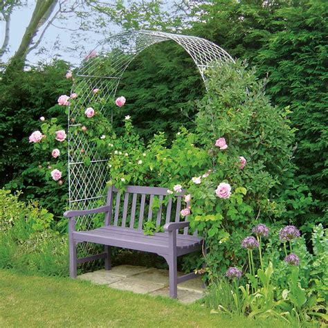 garden bench with arch garden arches metal garden arches in wirework