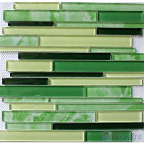 waterfall glass tile linear elegancy hand painted glass mosaic voglus mosaic