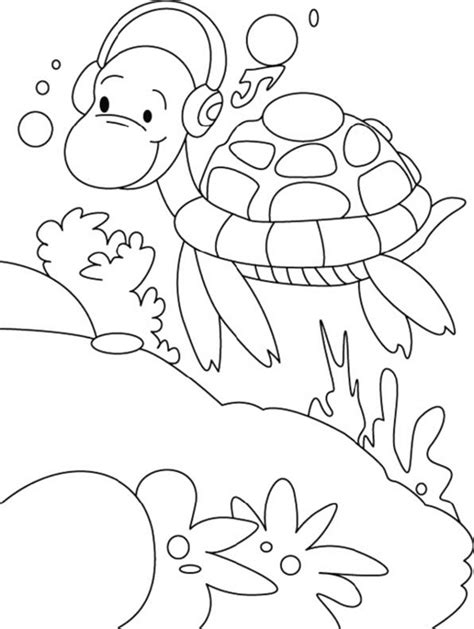 cartoon turtle coloring pages bestappsforkids com