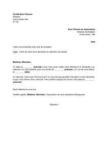 Exemple De Lettre De Demission En Pdf Modele Lettre De Demission Reduction Preavis Document