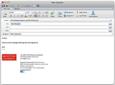 Professional Email Signature Templates Outlook   www