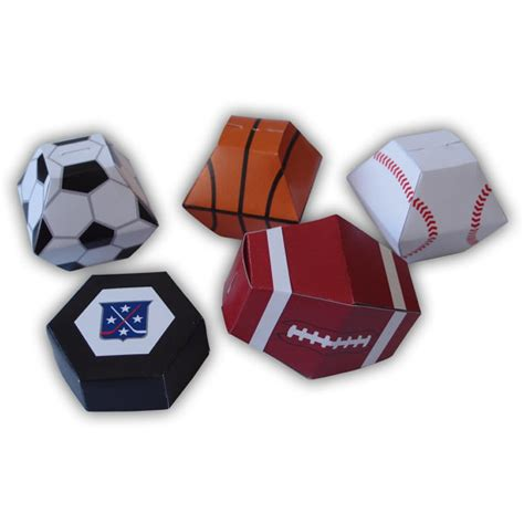 templates boxes for favors gifts sports themed gift box favors party printables color templates