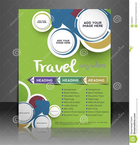 Travel Center Flyer Design Stock Vector Image 40800237 Travel Flyer Template Free