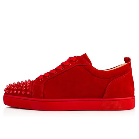 sneakers with spikes christian louboutin louis junior spikes flat suede