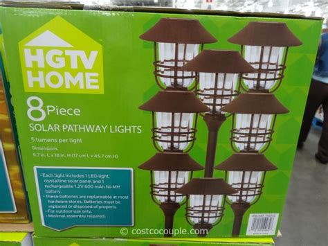 costco outdoor solar garden lights hgtv large solar pathway lights