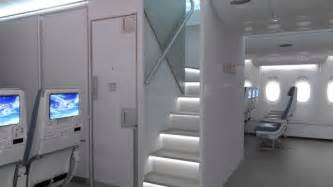a380 cabin airbus reveals a380 cabin stairs option aircraft