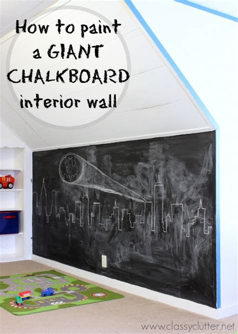 diy chalk paint on walls how to make a chalkboard wall clutter bloglovin
