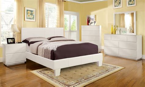euro bed full size winn park white leather platform bed euro