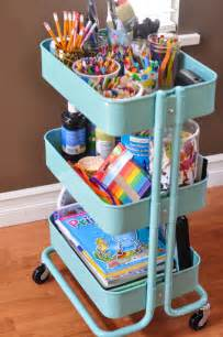 Exceptional Rolling Cart For Kitchen #8: The-Art-Cart-an-Ikea-shelf-Suburble.com-1-of-1.jpg
