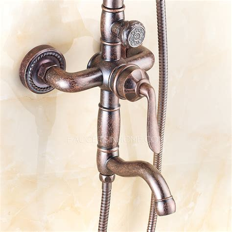 European Shower Faucet by European Style Antique Copper Outside Shower Faucets System