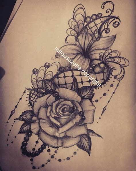 lace flowers tattoo design tattoo pinterest lace
