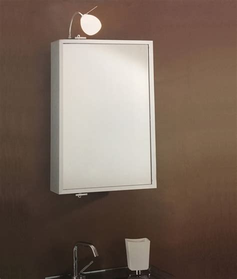 pivoting aluminium bathroom mirror cabinet half price