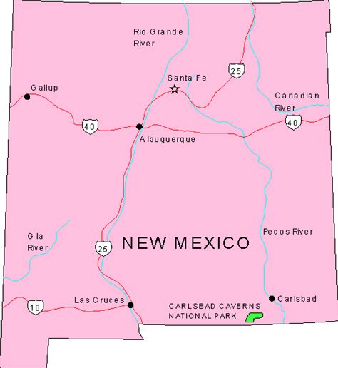 map of new mwxico new mexico maps map of new mexico