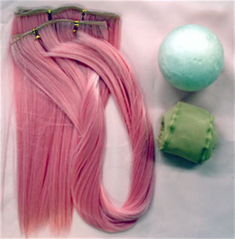 weft tutorial wig how to make wefting for doll wigs doll making pinterest