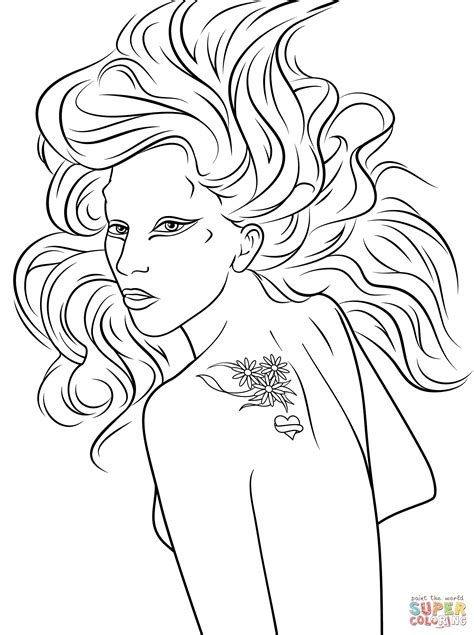 lade da gaga coloring page free printable coloring pages