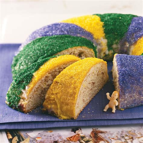 nola cake traditional new orleans king cake recipe taste of home