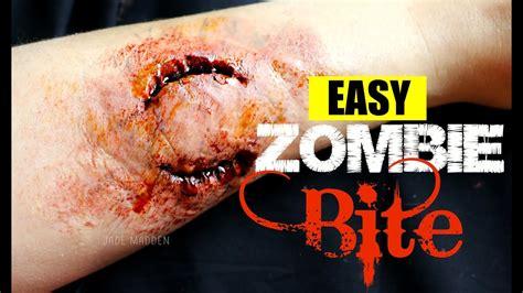 zombie bite tutorial easy zombie bite makeup sfx beginner friendly 2 minute