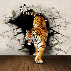 pin tiger wall mural for living room decor cute wallpaper lion on