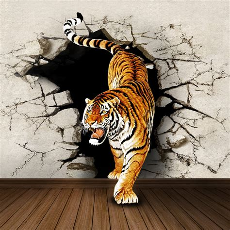 tiger wall mural pin tiger wall mural for living room decor wallpaper