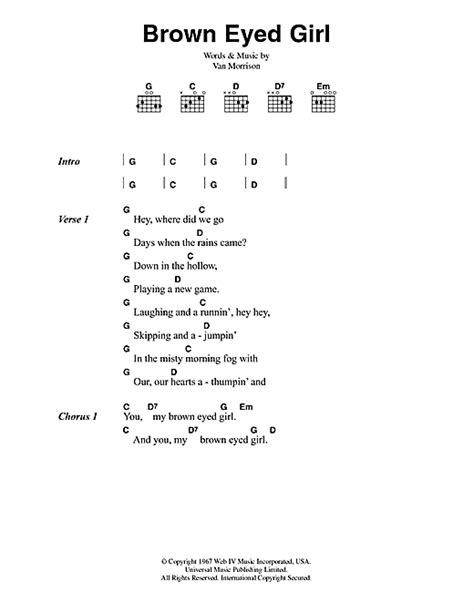 ukulele tutorial brown eyed girl brown eyed girl sheet music by van morrison lyrics