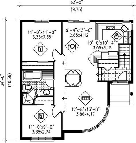cochera y garaje diferencia planos casa moderna con 2 dormitorios y garaje para 1 vehiculo