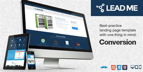 40 Beautiful Landing Page Templates Lead Landing Page Template