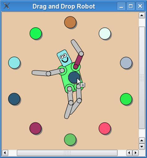 qt tutorial drag and drop drag and drop robot exle qt widgets 5 10