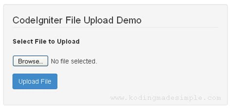 codeigniter tutorial upload image simple image and file upload in codeigniter with
