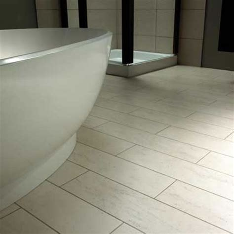 sophisticated white concrete bathroom linoleum flooring