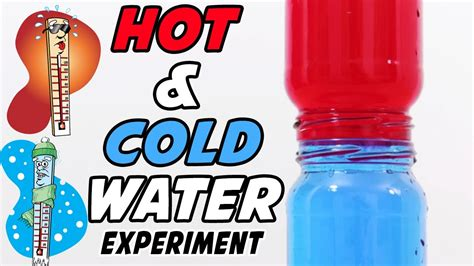 cold water vs room temperature water and cold water science experiment