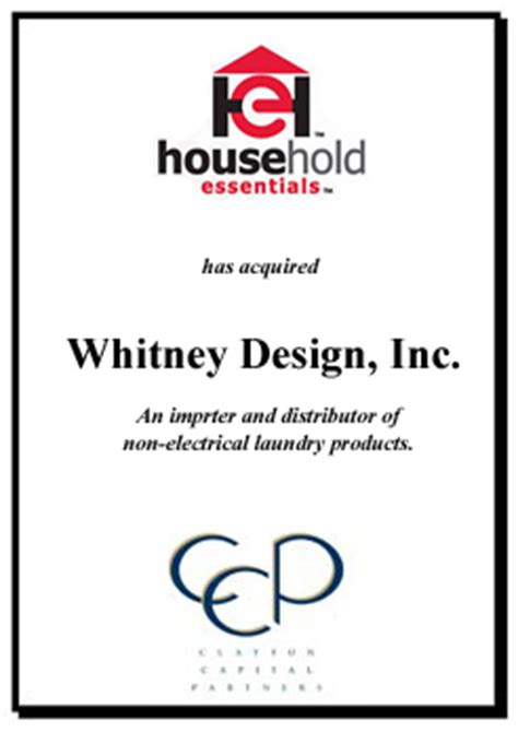 whitney design home essentials mergers acquisitions investment banking st louis