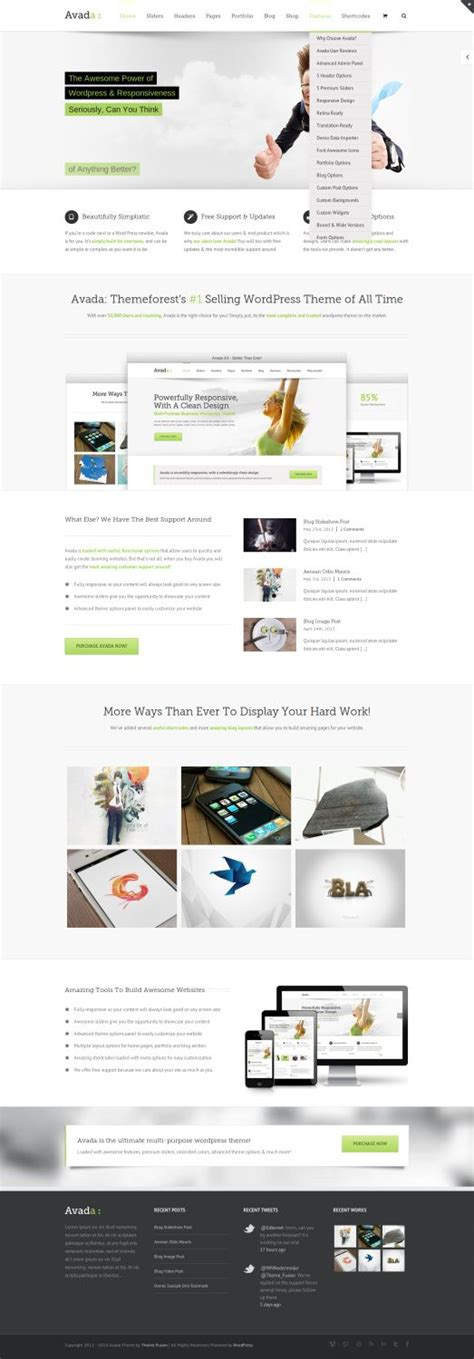Wordpress Themes Avada Review | themeforest avada review must read