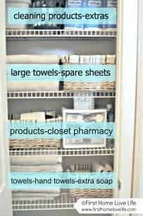 linen closet organization and closet pharmacy home